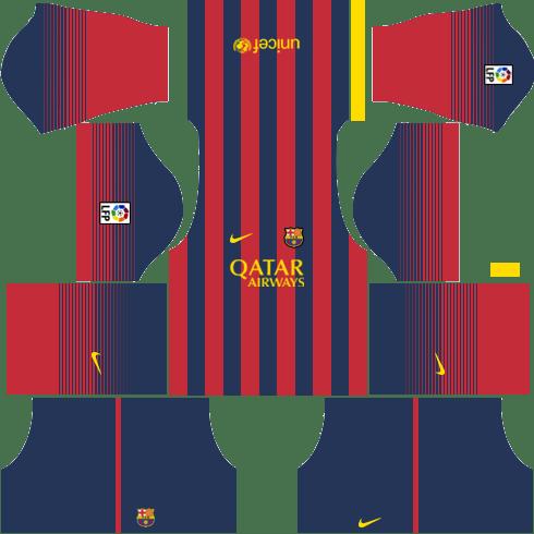 Barcelona Kits 2013 2014 Dream League Soccer In 2020 Barcelona Football Kit Soccer League Barcelona