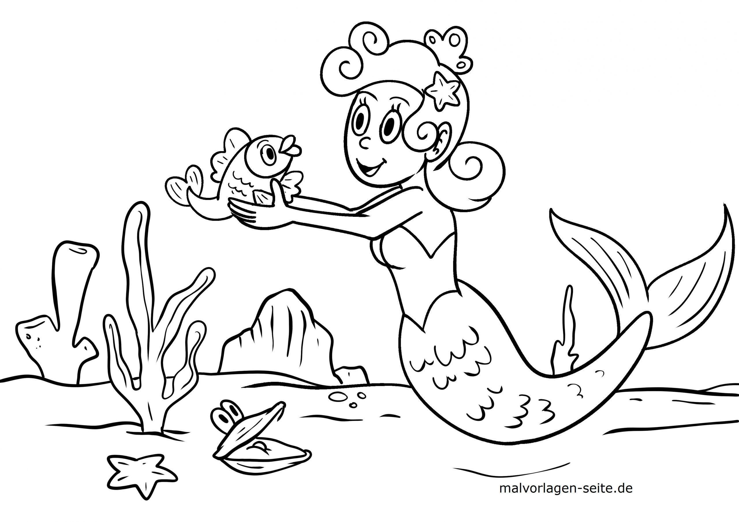 Malvorlagen Meerjungfrau