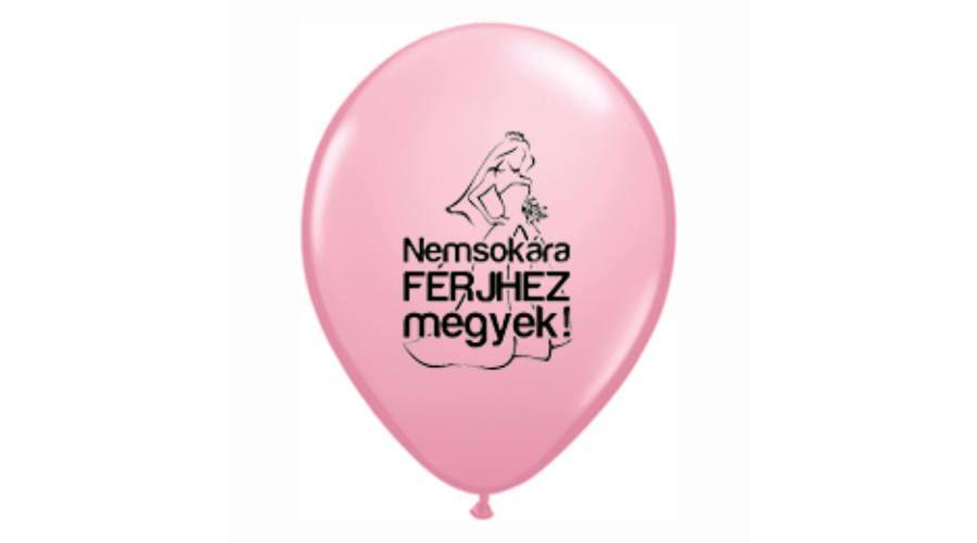 43a512934f Nemsokára férjhez megyek rózsaszín héliumos lufi lánybúcsú dekoráció, Nicol  Party Kellék Bolt