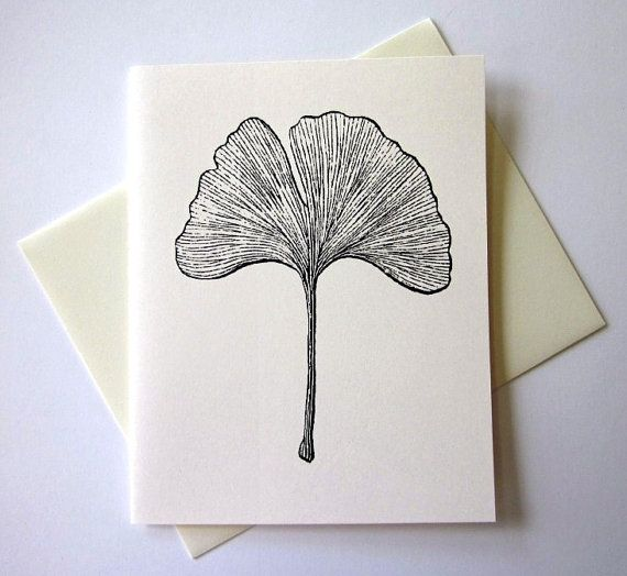 Ginkgo Leaf Note Cards Stationery Set Of 10 By PetitePaperie 1000