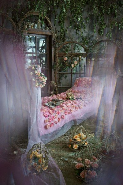 A Cosy Bedroom In A Tree For A Fairy Tale Character