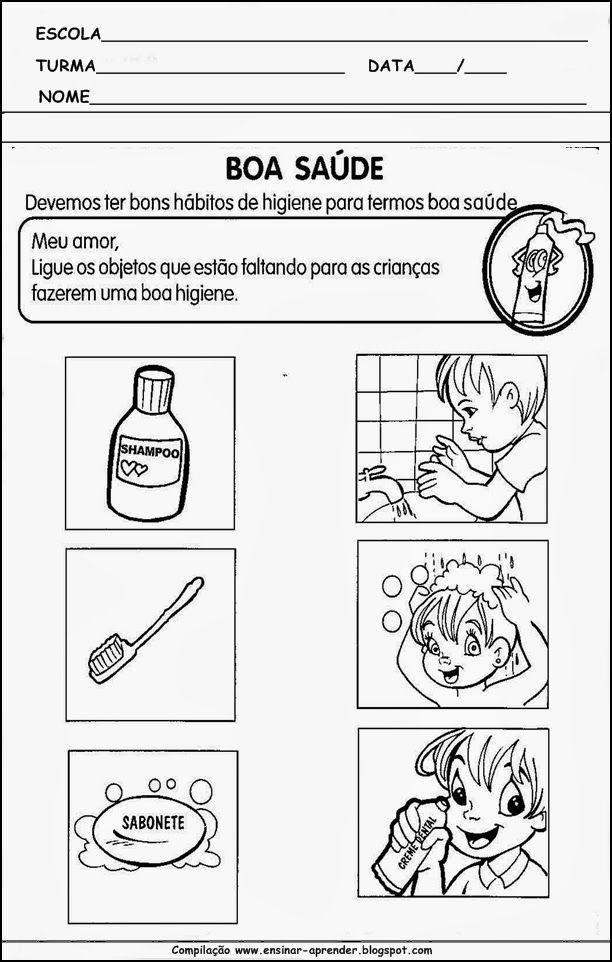 Atividades Sobre Higiene Corporal 15 Jpg 612 962 Com Imagens