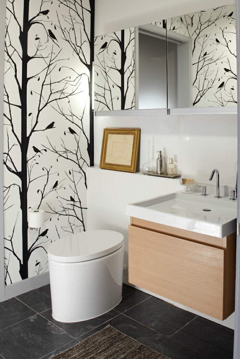 petite salle de bains avec wc 55 ides de meubles et dco russis - Salle De Bain Decoration Murale