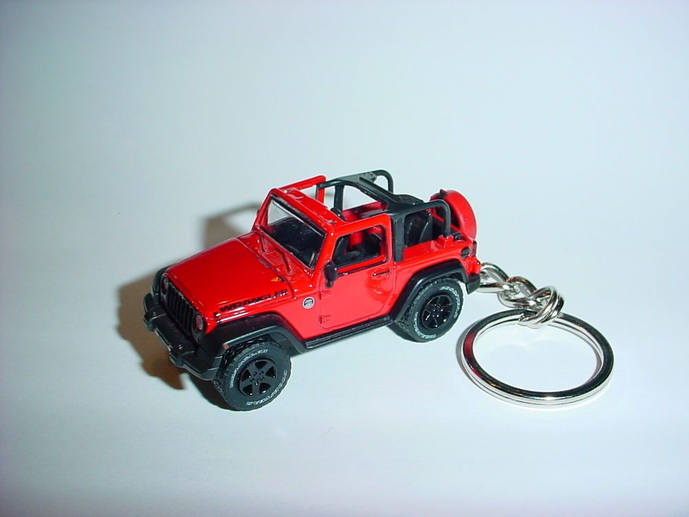 New 3d Red Jeep Wrangler Custom Keychain Keyring Key 4x4 Offroad