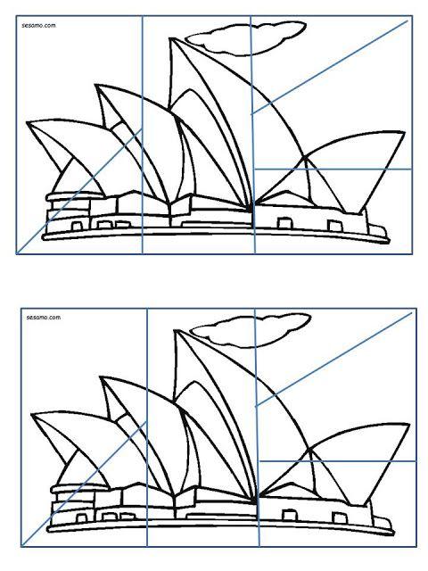 Puzzle Opera De Sidney Piezas OperaPuzzleColoringRoundWorld