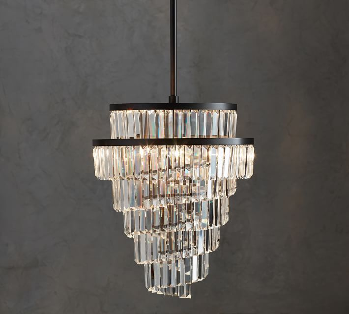 Gemma helix crystal chandelier lighting