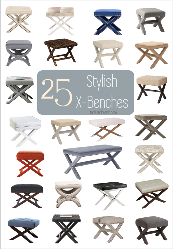 X Bench Shopping Guide Table And Hearth X Bench Decor Furniture Styles