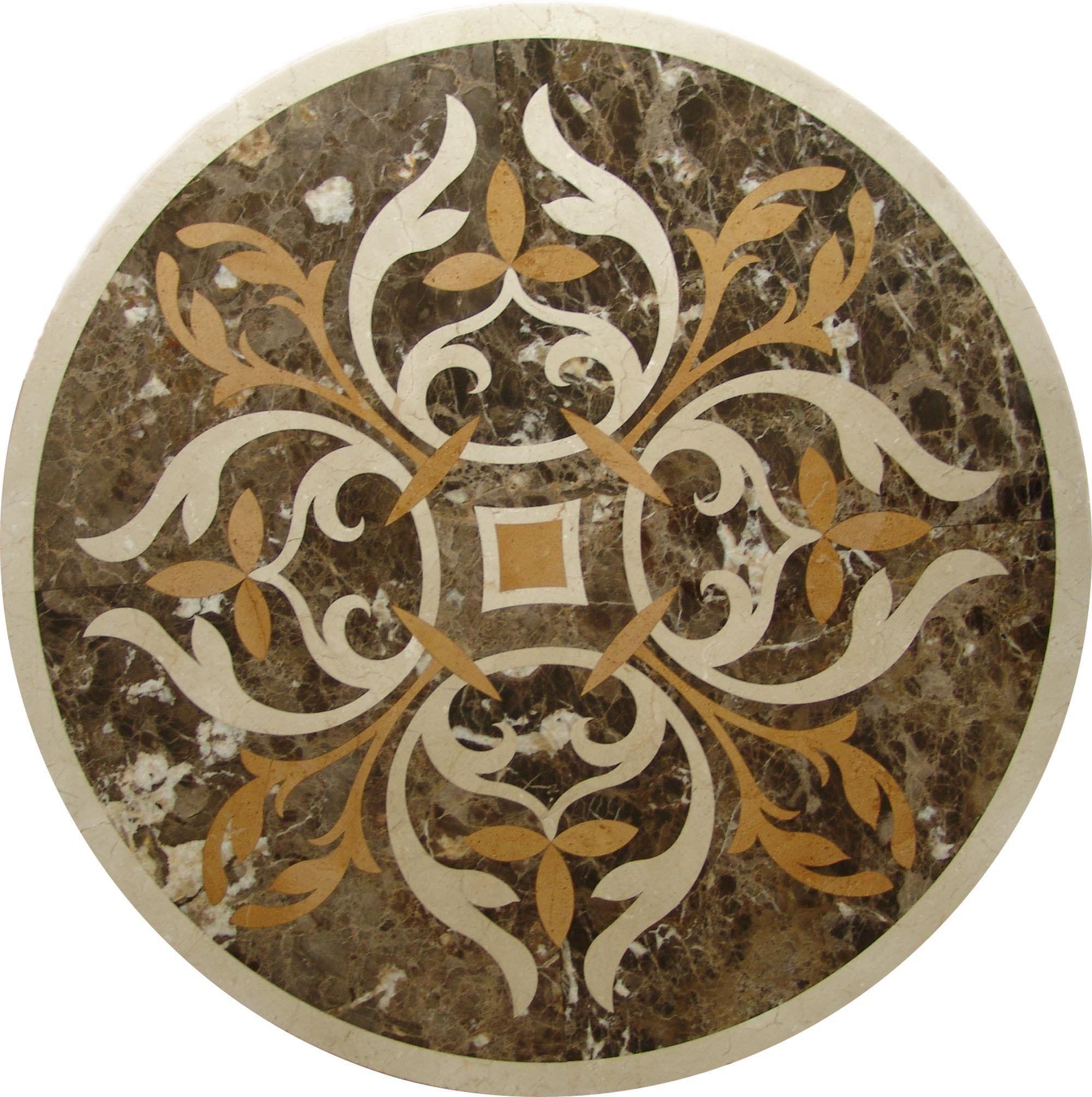 Water Jet Accent Medallion Aurum Mosaic