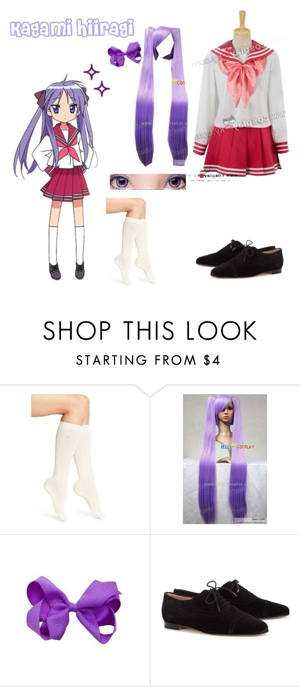 """""""Kagami Hiiragi- Lucky Star"""" by zozo-chan ❤ liked on Polyvore featuring Calvin Klein and Manolo Blahnik"""