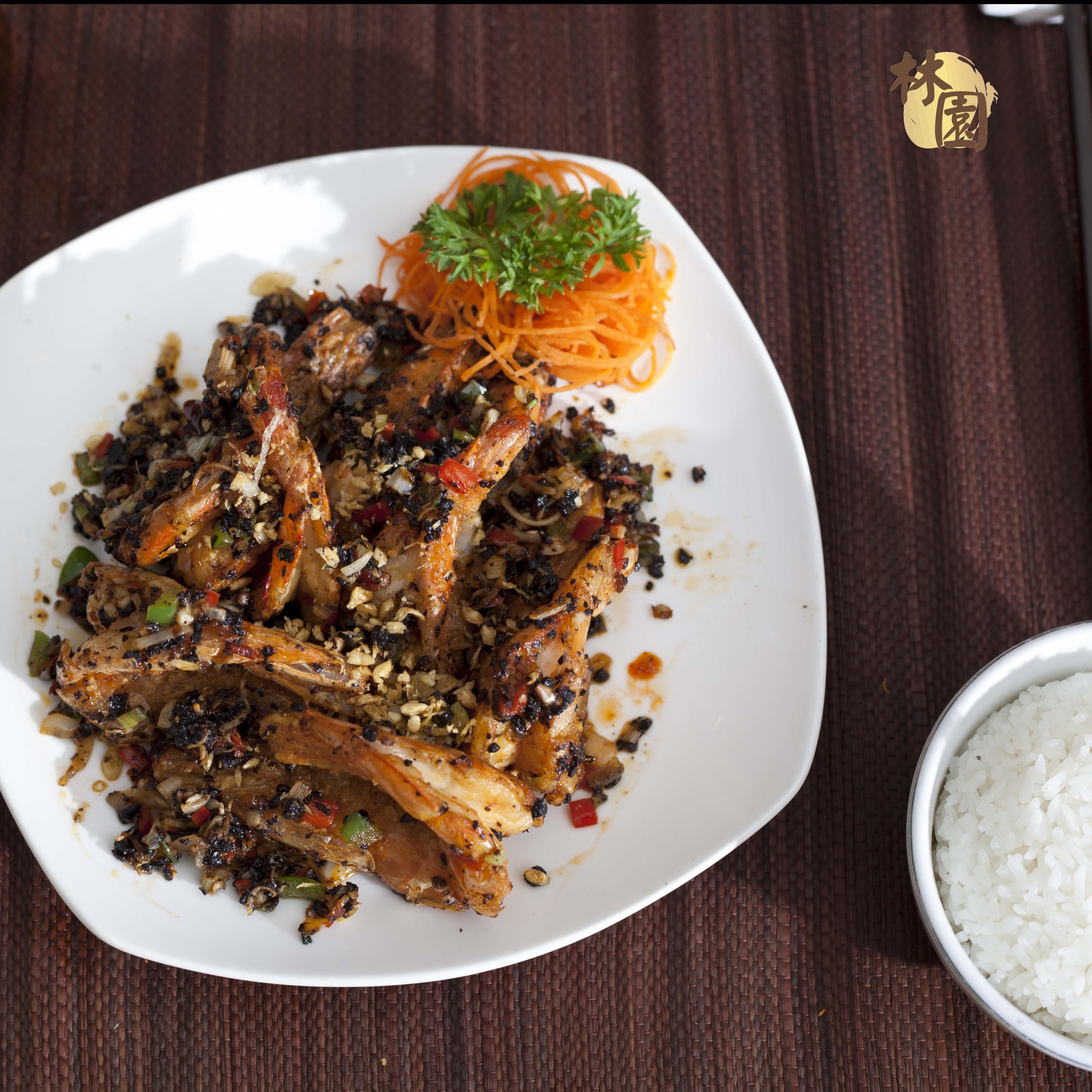 Shrimp in Bi Feng Tang style