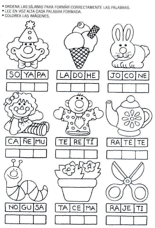 Ejercicios De Preescolar Letras Buscar Con Google Actividades De Lectura Actividades Para Preescolar Actividades De Alfabetización