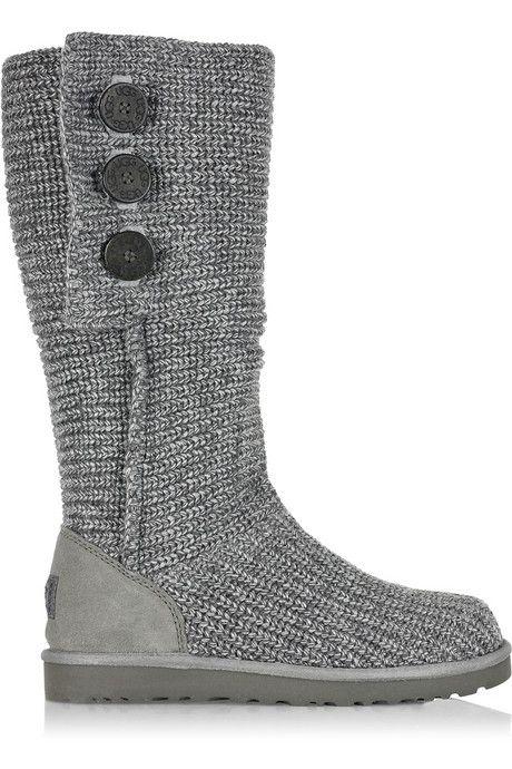 botas grises tejiditos tejiditos tejiditos Crochet boats Crochet Zapatos 47220a