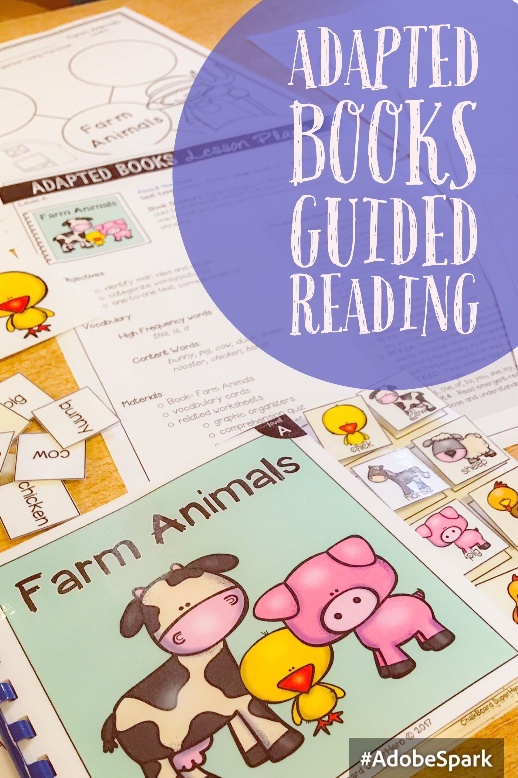 Adapted Book Guided Reading Lesson Farm Animals Guided