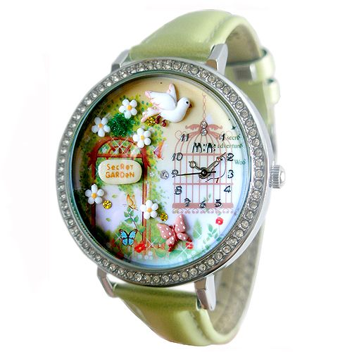 Hottest Korean Handmade Polymer Clay Watch  Cute & fashion! These are the cutest fashion watch ever! Using genuine leather, hand crafted/ hand painted polymer clay. Surely this will become your favorite accessory ever!  Products Details: 1. Japan Citizen Movement  2. Japan Bat...