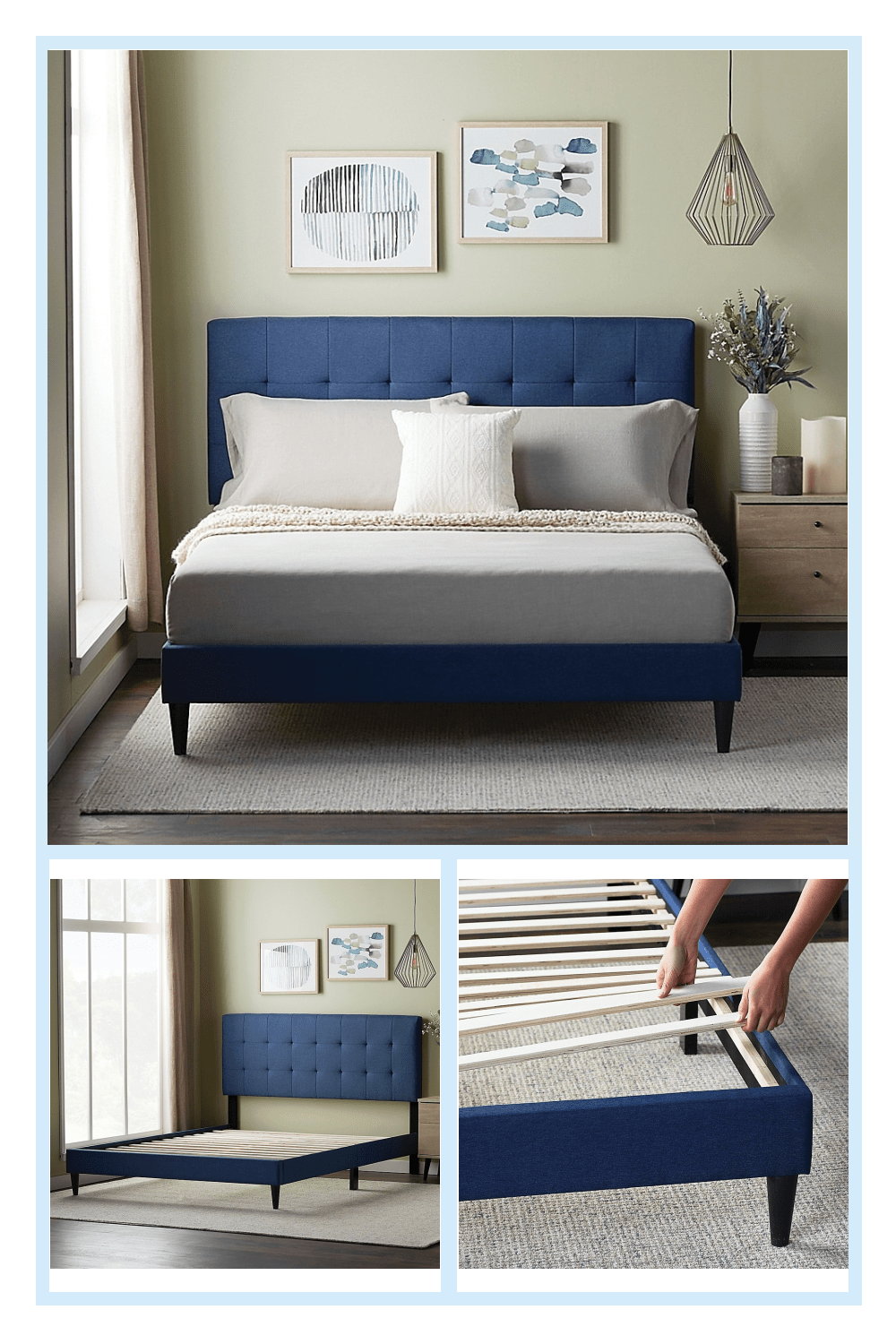 twin xl headboard and frame on dream collection by lucid platform bed frame with square tufted headboard bed bath beyond platform bed frame twin platform bed frame king platform bed frame pinterest