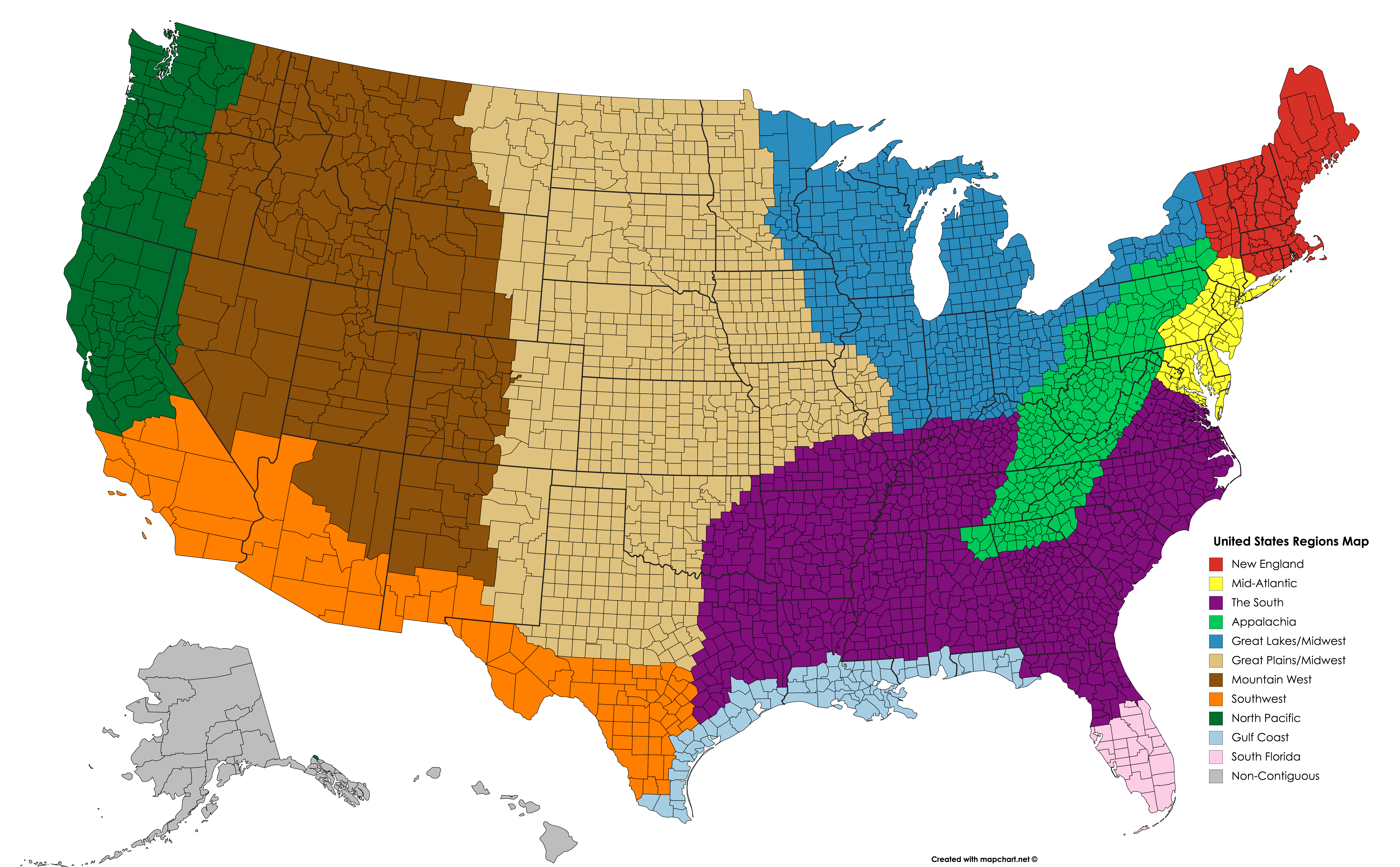 United States Regions Map   Historical maps, United states, Map