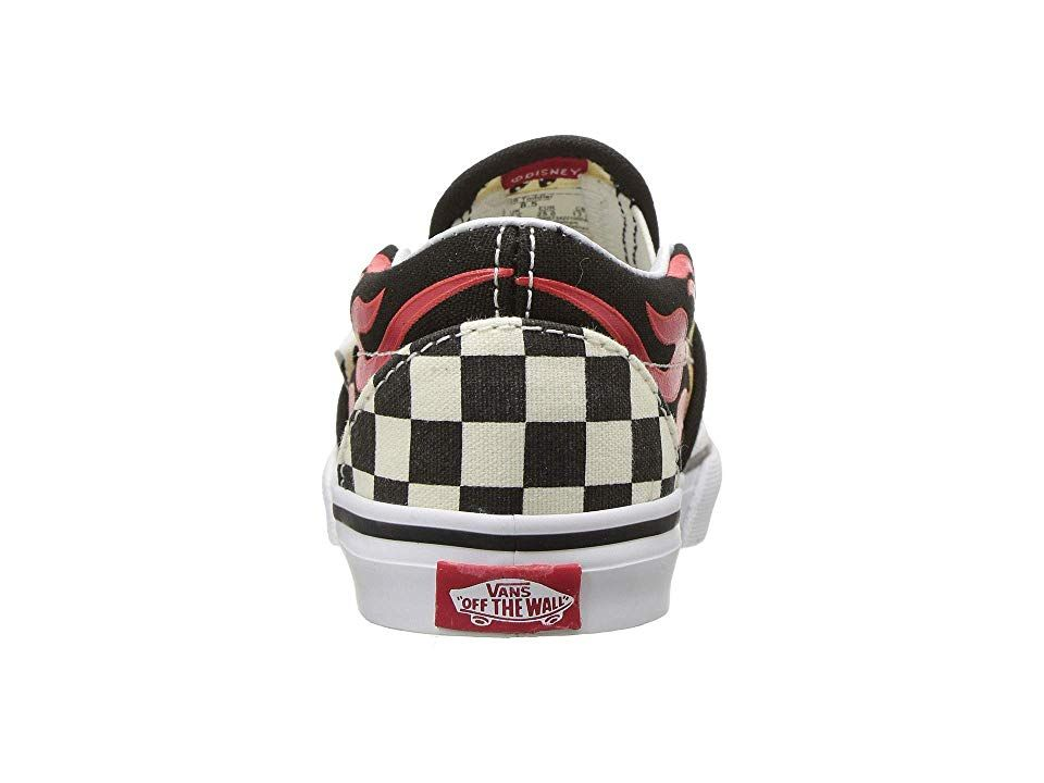 d1909ea18bf10b Vans Kids Mickey s 90th Classic Slip-On (Infant Toddler) Boys Shoes  (Disney) Mickey   Minnie Checker Flame