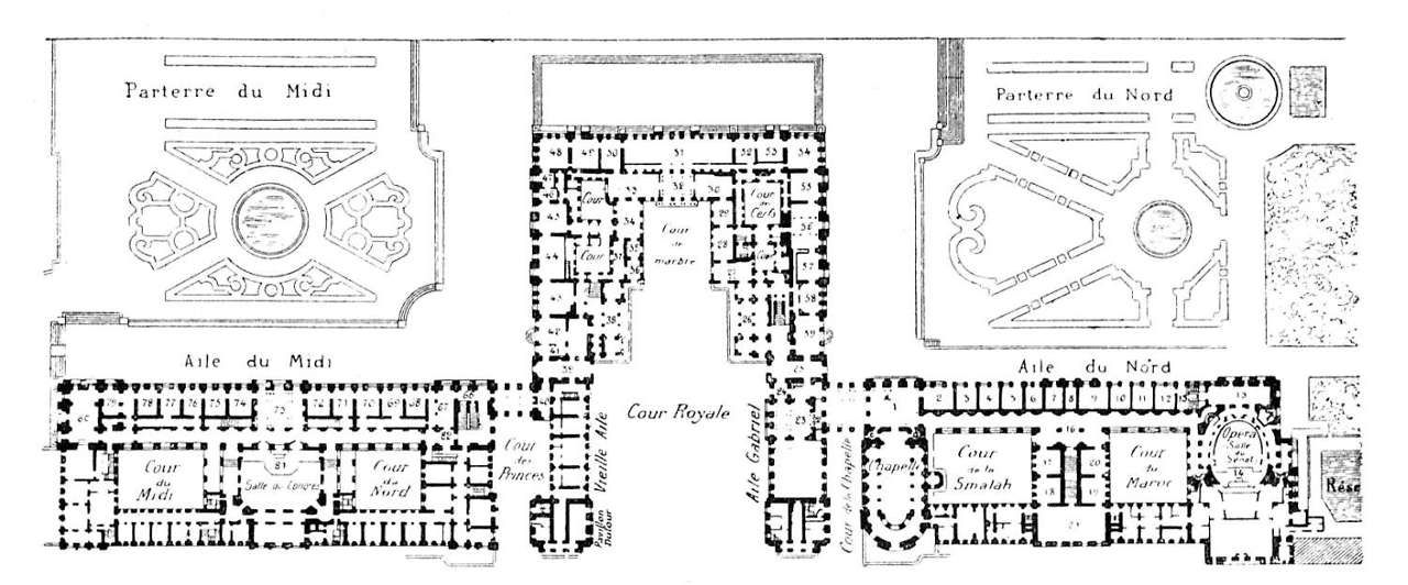 Floor plan of the ch teau de versailles floor plans for Versailles house floor plan