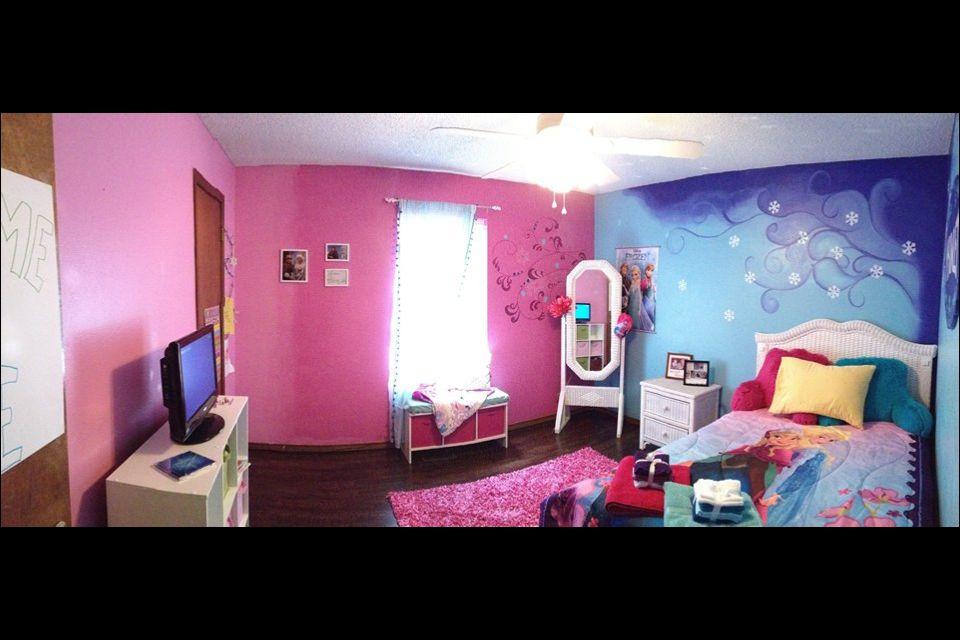 Disney S Frozen Inspired Bedroom For Girls Room My College Friend