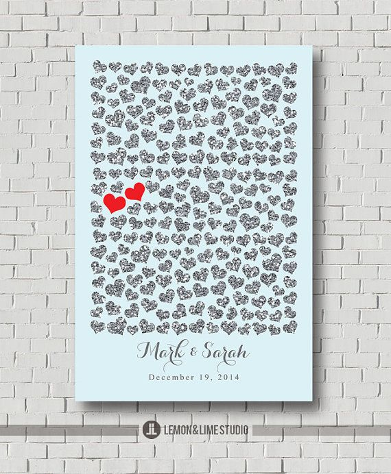 Sparkle Wedding Guest Book Print Sweetheart by MarshmallowInkLLC