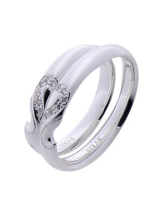 #LoveMarkPH Joined by Love Silver Couple Ring: Made 92.5% silver & 6 pieces of 1.0mm cubic zirconia [Item code: lr0003]