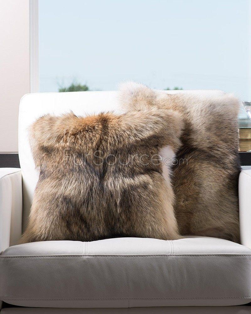 Full Pelt Coyote Fur Pillow In 2019