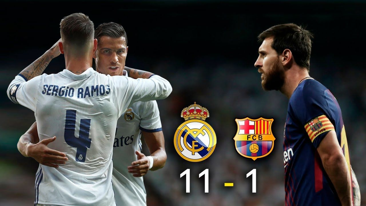 Real Madrid 11 Vs Barcelona 1 El Clasico 2017 La Liga Parodia Mes Youtube Real Madrid Madrid