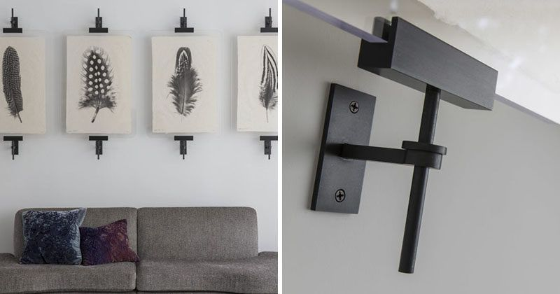 Wall Art Display Ideas   These Contemporary Industrial Metal Clamps Are An  Alternative Way To Display A Collection