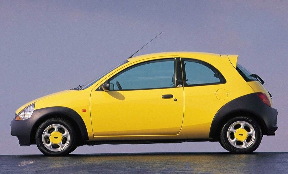 Ford Ka Yellow With Painted Alloy Wheel Centres