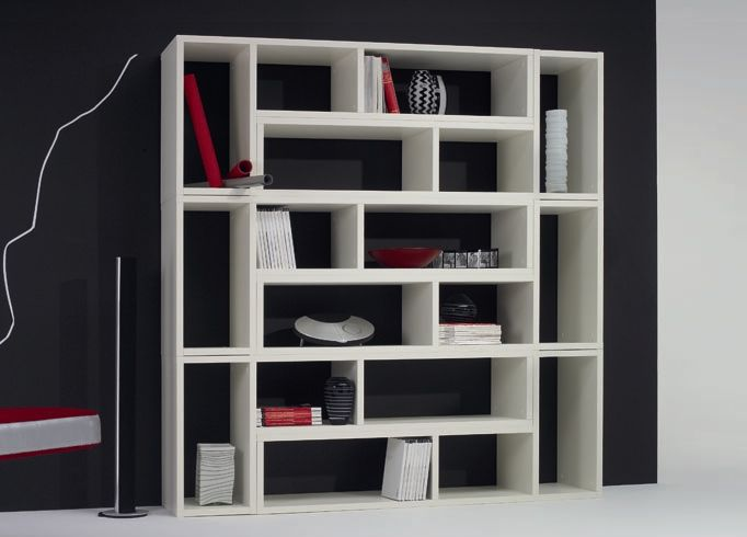 contemporary book shelves jigsaw large bookcase - Large Bookshelves