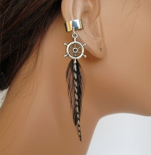 Wheel And Feather Earcuff Ebay 10 00