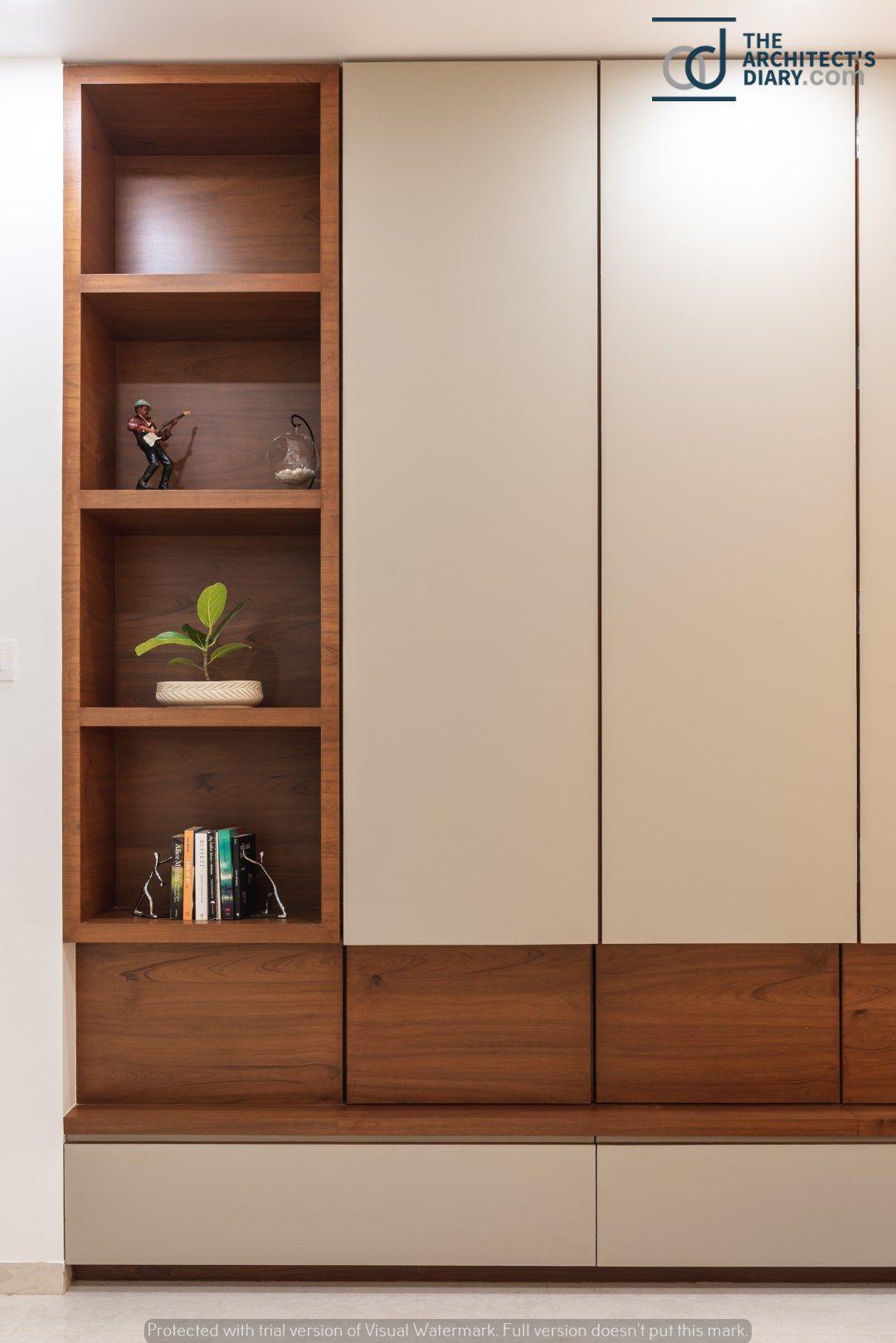Swaram A Contemporary House With Images Wardrobe Design Bedroom Wardrobe Door Designs Cupboard Design