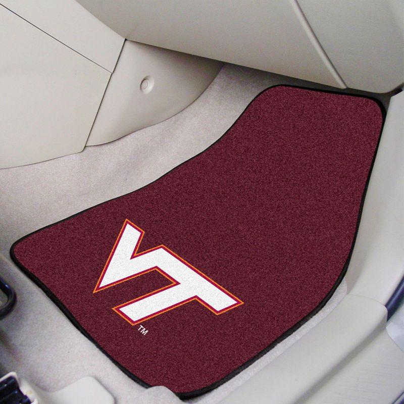 Virginia Tech Hokies 2-Piece Carpet Car Mat Set   Virginia tech ...