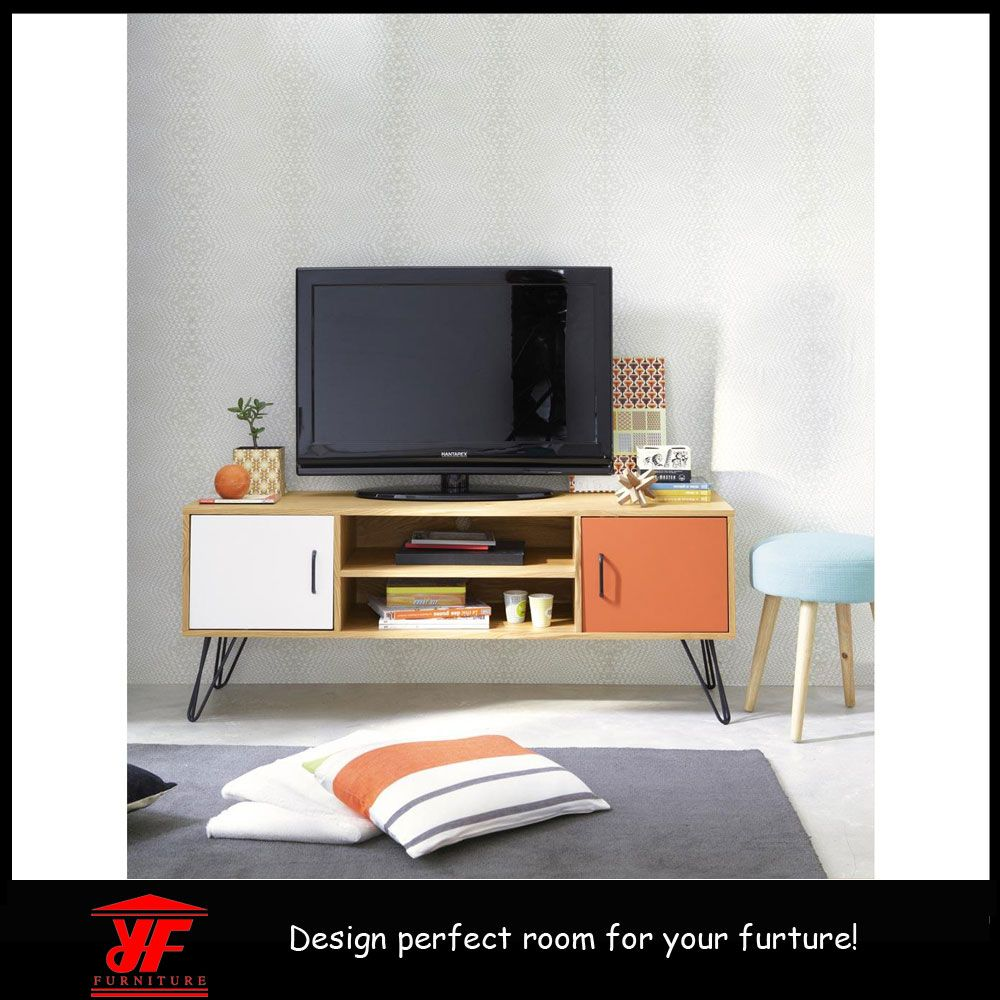 Tv Cabinet With Metal Hairpin Legs Newest Furniture Products  # Meuble Tv Zaiken Plus