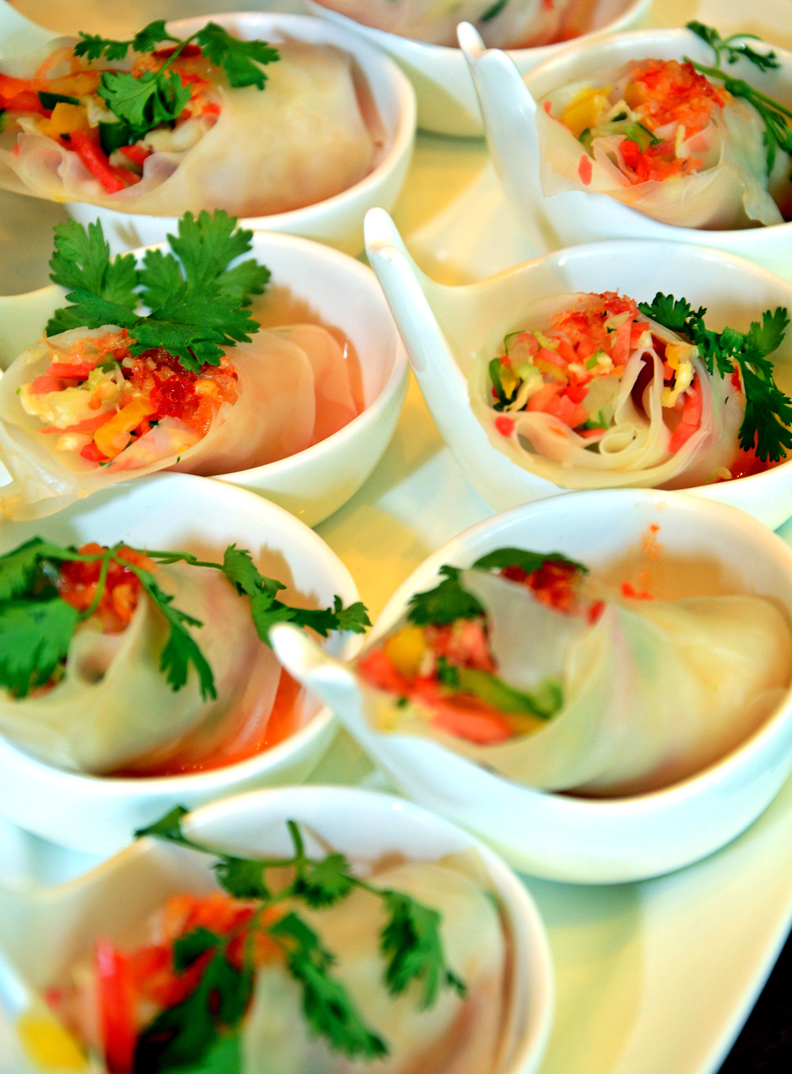 Indulge in the oriental favourite - Rice Paper Roll!