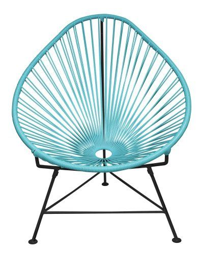 Innit Designs Baby Acapulco Chair, Blue Weave On Black Frame Innit Http://