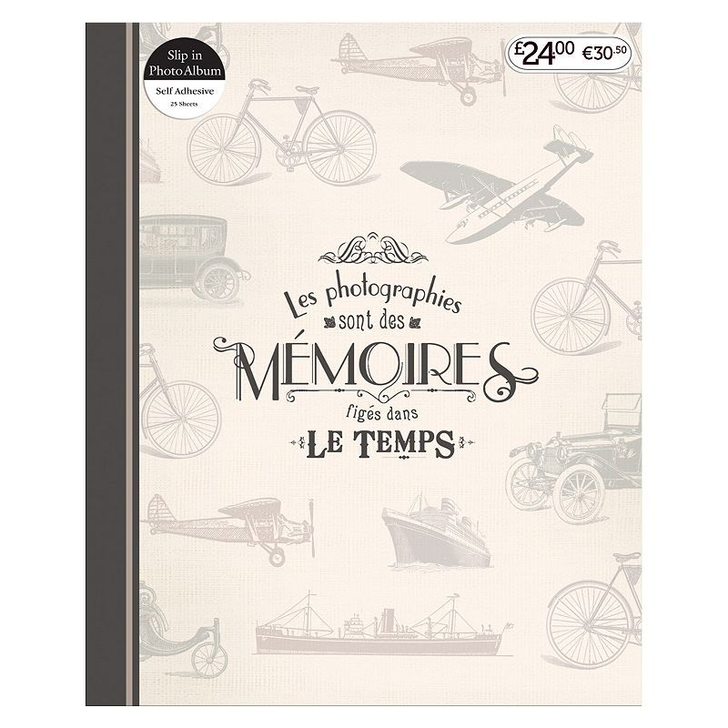 Anker Travel Memories Self Adhesive Photo Album 7x5 - 25 Sheets