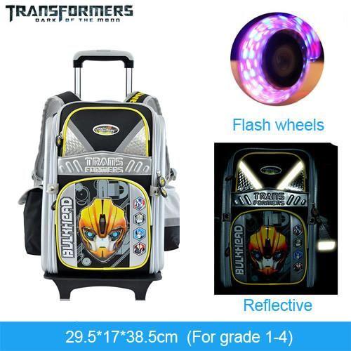 THE TRANSFORMERS cartoon trolley/wheels school/books/children/kids ...
