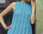 Items similar to Instant Download VKNC76  Vintage 1960's Crochet Ladies Dress Pattern Retro Mod on Etsy