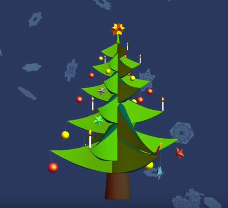 Christmas Tree With Moving Ornaments Don T Miss Around