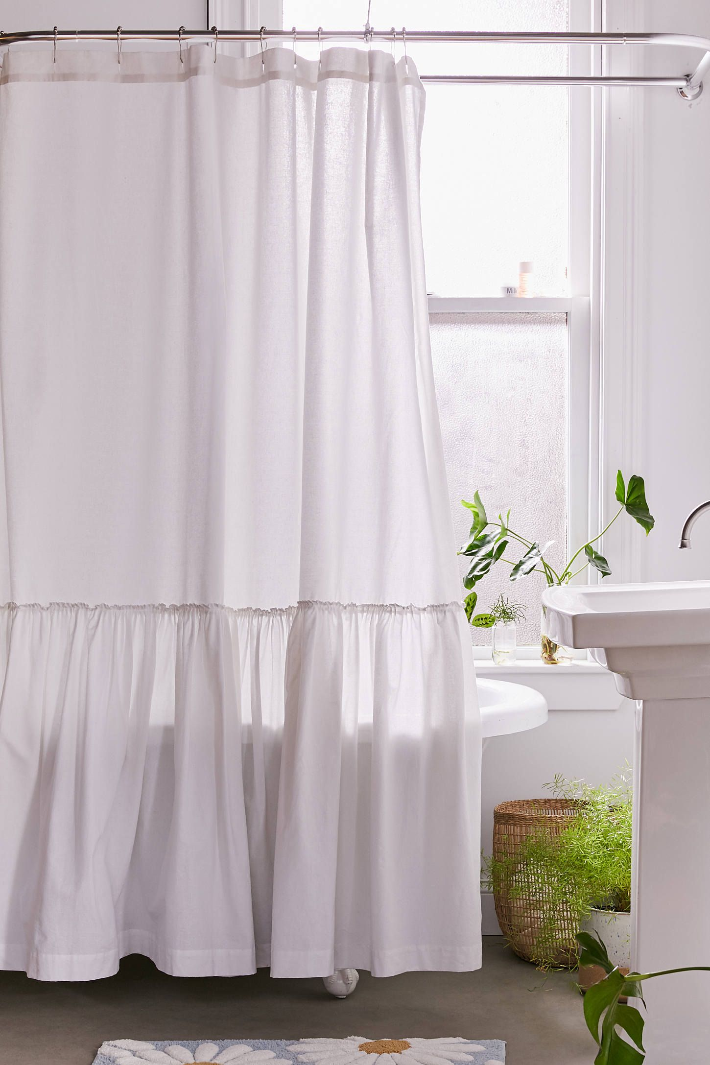 Overscale Ruffle Shower Curtain Urban Outfitters Ruffle Shower