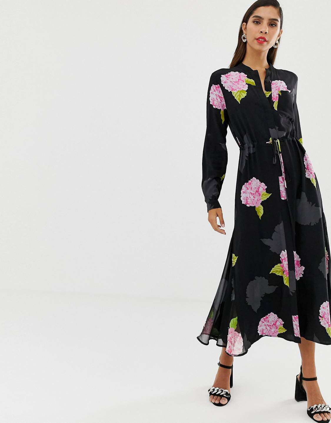 91c7480599c0eb French Connection midi shirt floral bloom dress in 2019 | Stylish ...