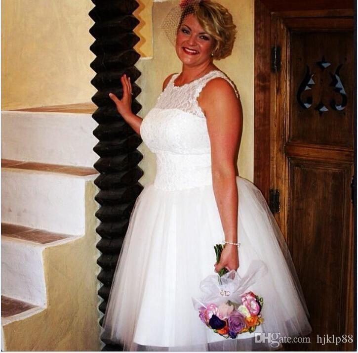 Plus Size Beach Wedding Attire Chiffon Ankle Length Casual