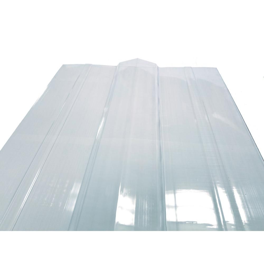 Suntuf 4 Ft Solar Grey Polycarbonate Roof Panel Ridge Cap 108654 The Home Depot Polycarbonate Roof Panels Ridge Cap Polycarbonate