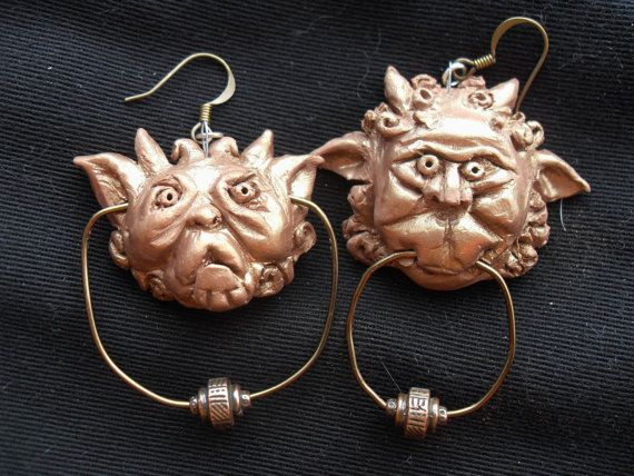 Labyrinth Knocker Earrings by JanaeEclecticEffects on Etsy