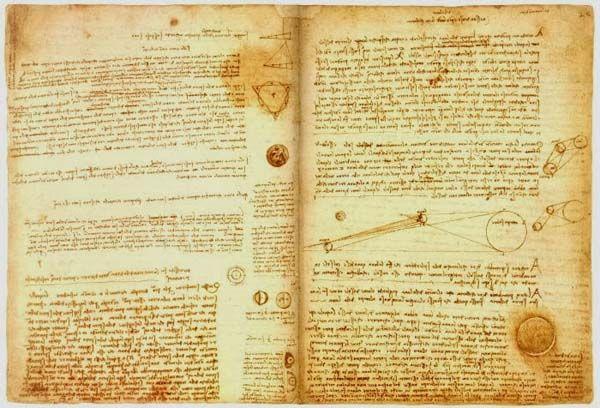 Livro Que Contém escritos de Leonardo Da Vinci no valor de $ 30,8 Milhões Dólares