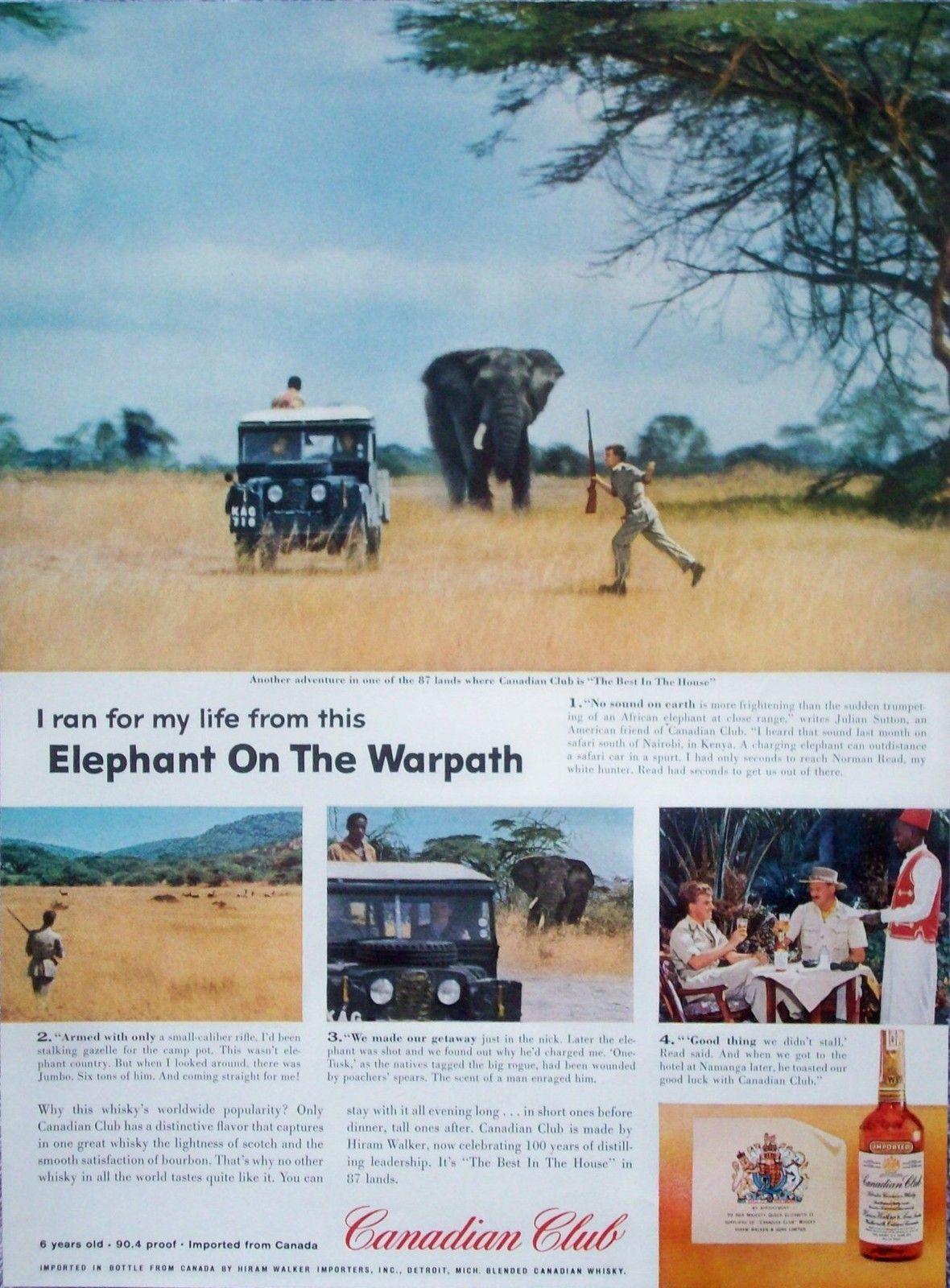 Canadian Club Whiskey Kenya Safari 1958 | africa | Canadian club
