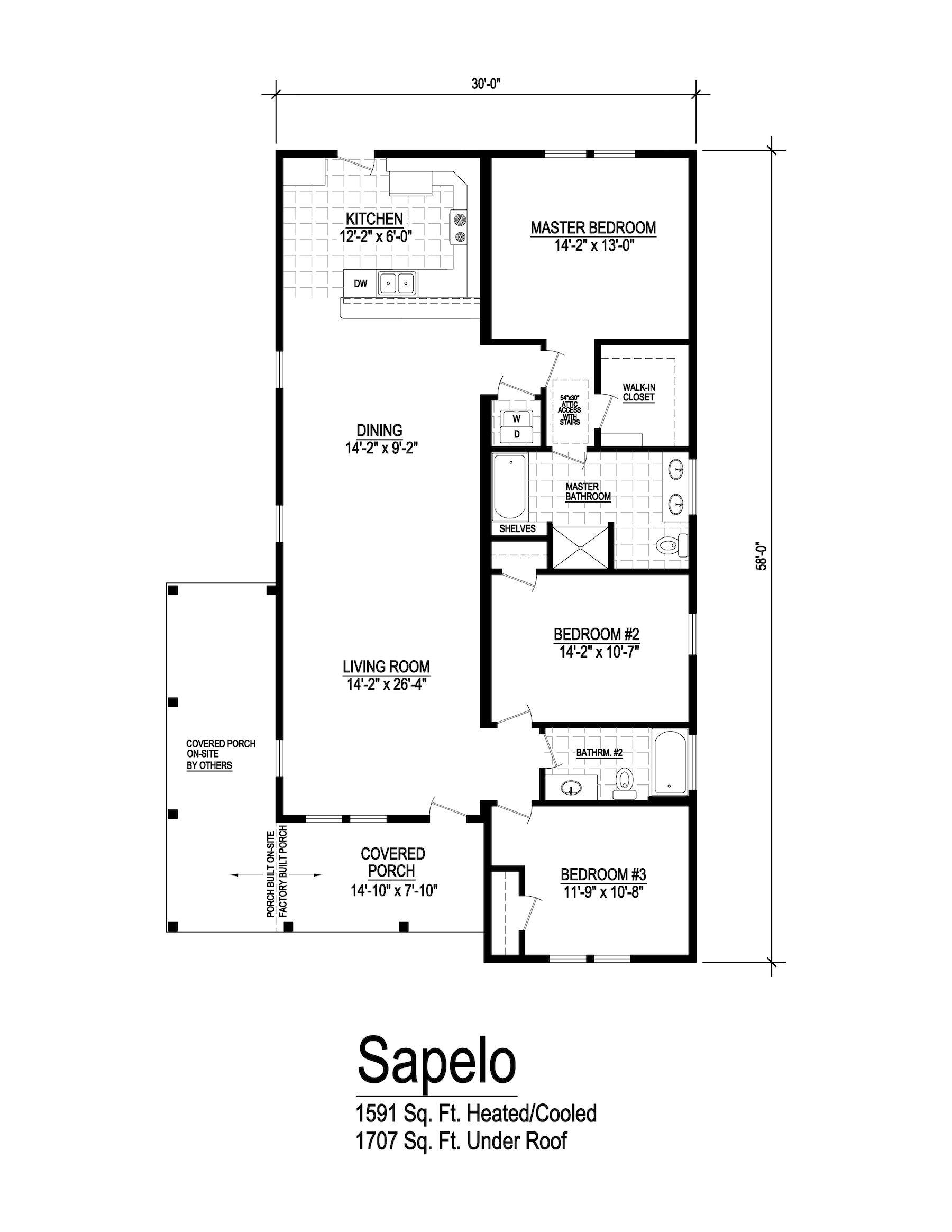 Sapelo Floorplan Building Systems Floor Plans Modular Homes