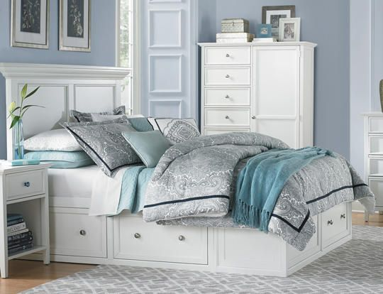 Bedroom Furniture Queen Storage Bed abbott white queen storage bed - art van furniture | our bedroom