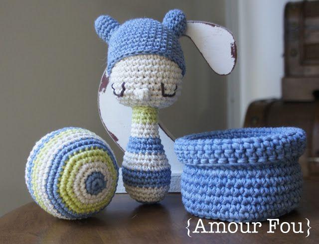 Amour Fou | Crochet }: Sonajeros para Bebé | MUÑECAS AMIGURUMI ...